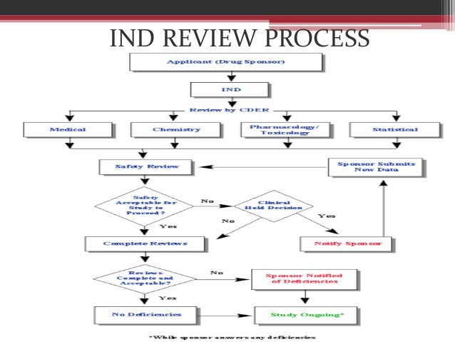 Investigational new drug review process
