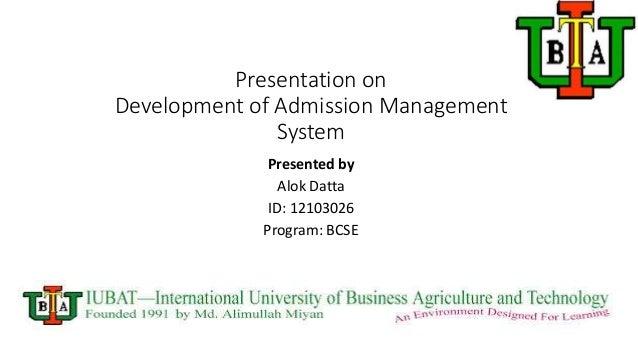 development of admission management system
