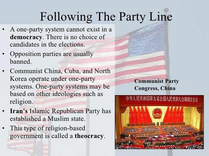 is china a one party state