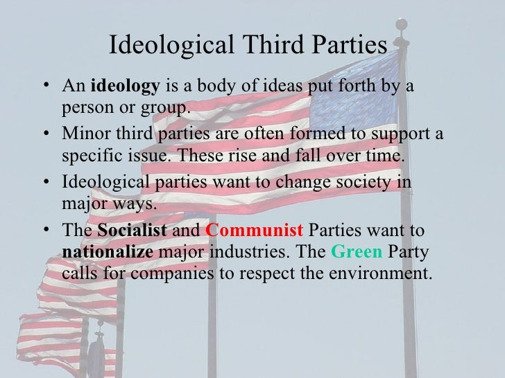 development political parties The first political parties the united states in the twenty-first century is predominately a two-party system although more than two political parties exist, many american voters tend to side with one of the big two: the democrats or the republicans.