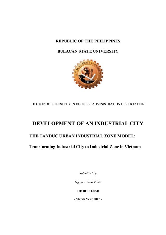 REPUBLIC OF THE PHILIPPINES BULACAN STATE UNIVERSITY DOCTOR OF PHILOSOPHY IN BUSINESS ADMINISTRATION DISSERTATION DEVELOPM...