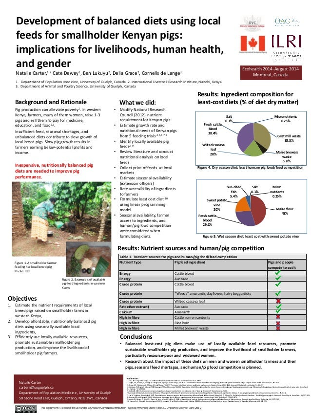 Development of balanced diets using local feeds for smallholder Kenyan pigs: implications for livelihoods, human health, a...