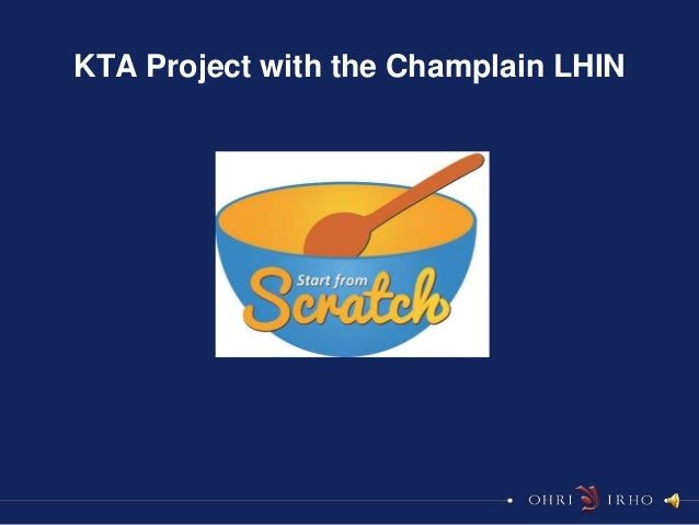 KTA Project with the Champlain LHIN
