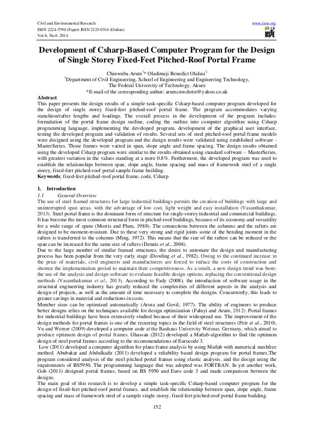 Civil and Environmental Research www.iiste.org  ISSN 2224-5790 (Paper) ISSN 2225-0514 (Online)  Vol.6, No.8, 2014  Develop...