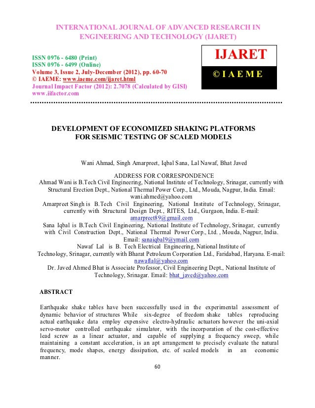 International Journal of Advanced Research in Engineering and Technology (IJARET), ISSN 0976        INTERNATIONAL JOURNAL ...