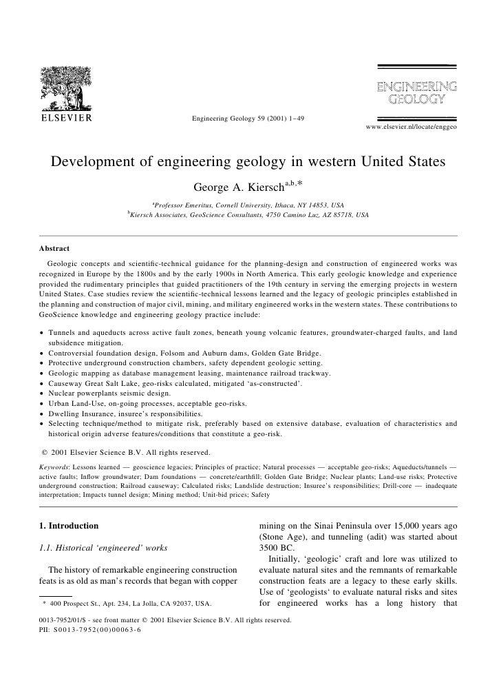 Engineering Geology 59 (2001) 1±49                                                                                        ...