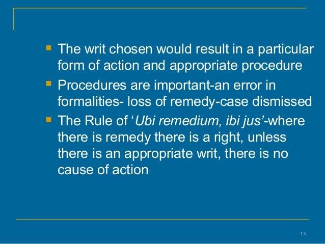Ubi Jus Ibi Remedium Law and Legal Definition