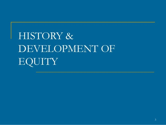 History of equity and trusts