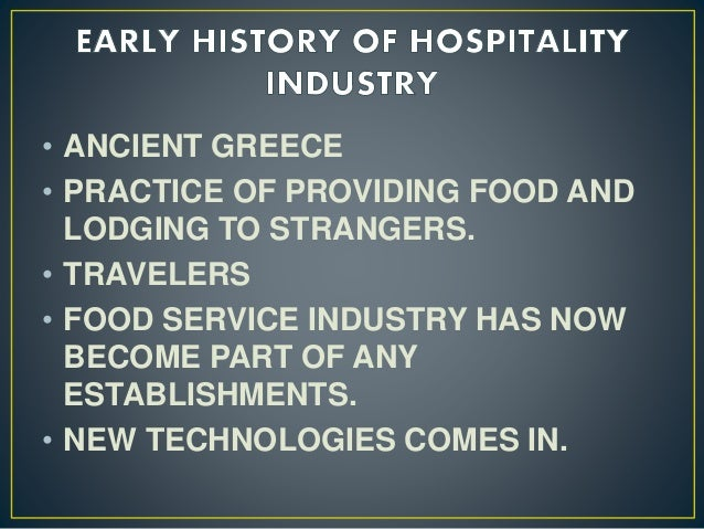 factors in the development of food service industry Investigate the factors behind the development of the service sector models   accommodation and food service activities showed the greater growth they had.