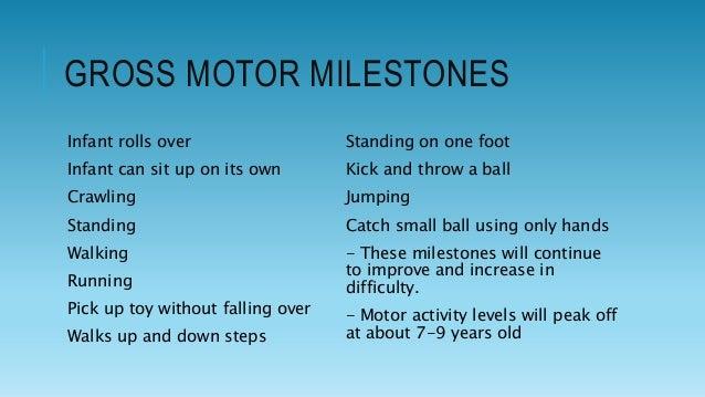 Fine and gross motor development for Gross motor skills for infants