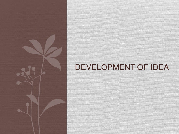 DEVELOPMENT OF IDEA