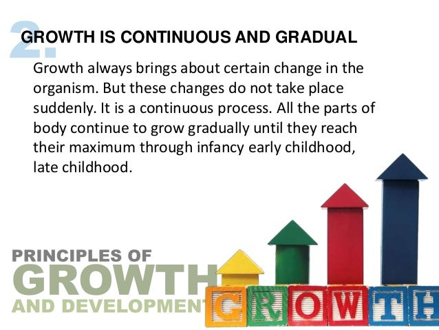 GROWTH IS CONTINUOUS AND GRADUAL Growth always brings about certain change in the organism. But these changes do not take ...