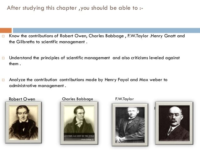Contribution of charles babbage to management thought