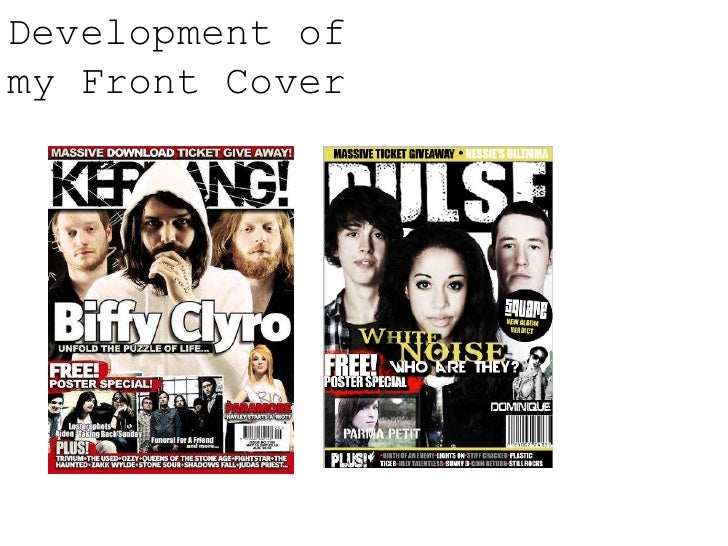Development of my Front Cover<br />