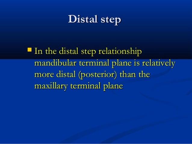 Distal stepDistal step  In the distal step relationshipIn the distal step relationship mandibular terminal plane is relat...
