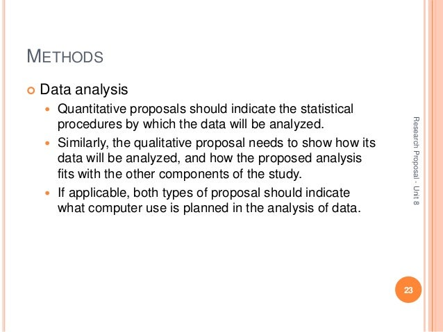 Data Analysis For Research Proposal