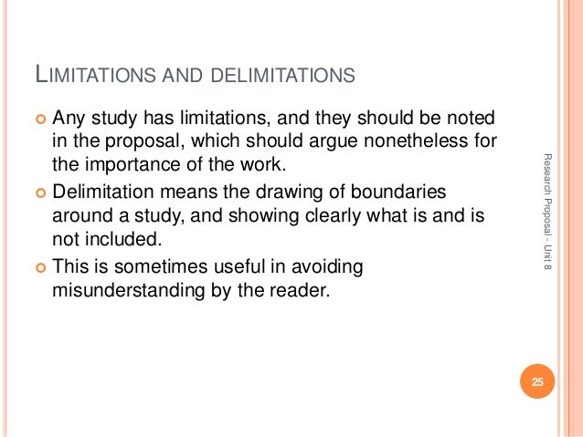 Limitations of the Study - Organizing Your Social Sciences ...