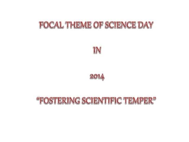 Development of scientific temper – our fundamental right