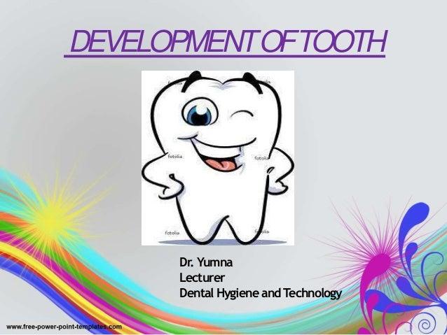 DEVELOPMENTOFTOOTH Dr. Yumna Lecturer Dental Hygiene and Technology