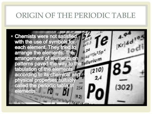 Development of the periodic table origin of the periodic table 7 urtaz Images