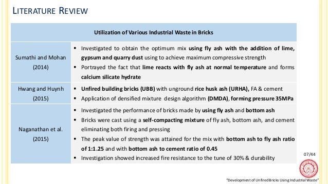Calcium Silicate Bricks Light Reflecting : Development of unfired bricks using industrial waste