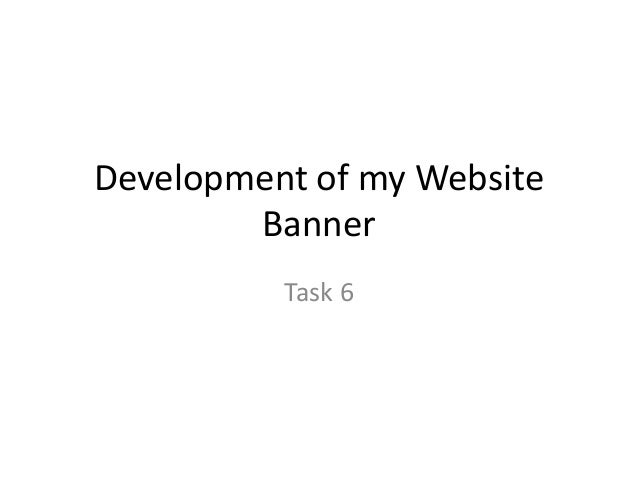 Development of my Website Banner Task 6