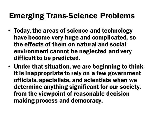 Development of workshop for handling trans science
