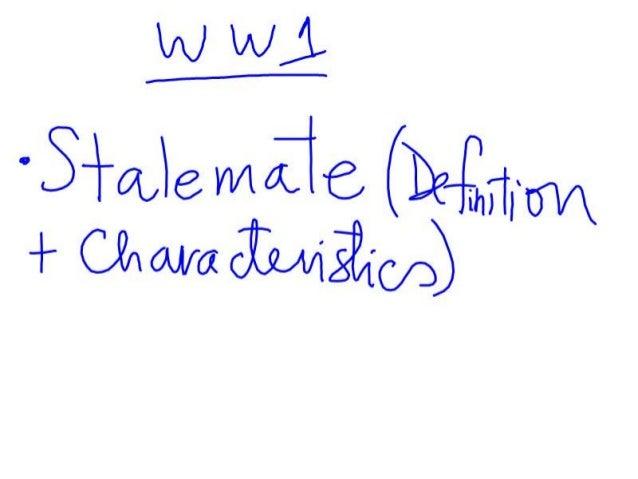 Development of ww1