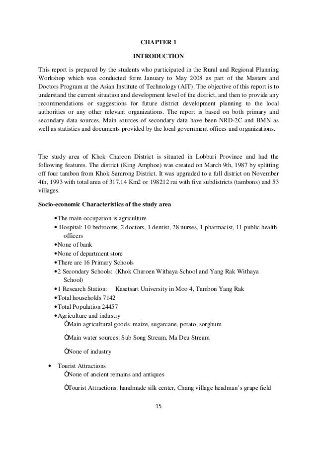 CHAPTER 1                                      INTRODUCTIONThis report is prepared by the students who participated in the...