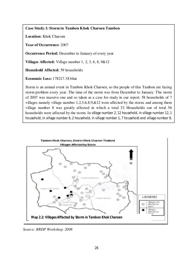 Case Study.1: Storm in Tambon Khok Charoen Tambon Location: Khok Charoen Year of Occurrence: 2007 Occurrence Period: Decem...