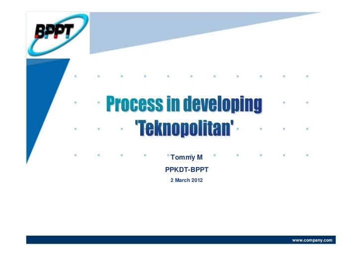 Tommy MPPKDT-BPPT 2 March 2012                www.company.com