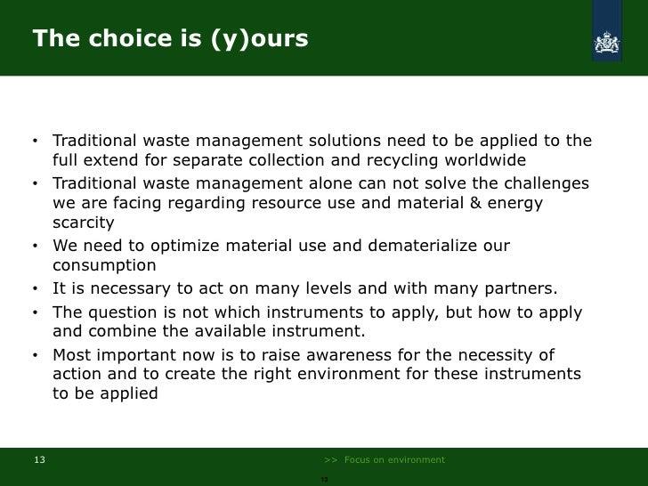 Developments in dutch waste management oneia for Environmental management bureau region 13