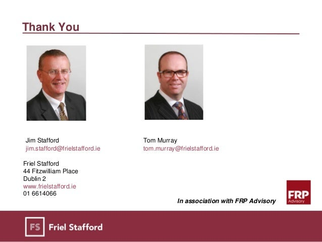 friel stafford personal insolvency vs bankruptcy