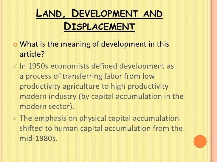 displacement sociology definition