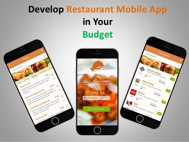 Develop mobile app for your restaurant
