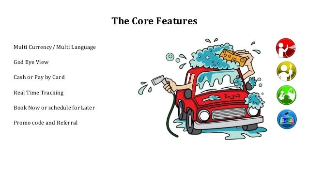 The Core Features Multi Currency/ Multi Language God Eye View Cash or Pay by Card Real Time Tracking Book Now or schedule ...
