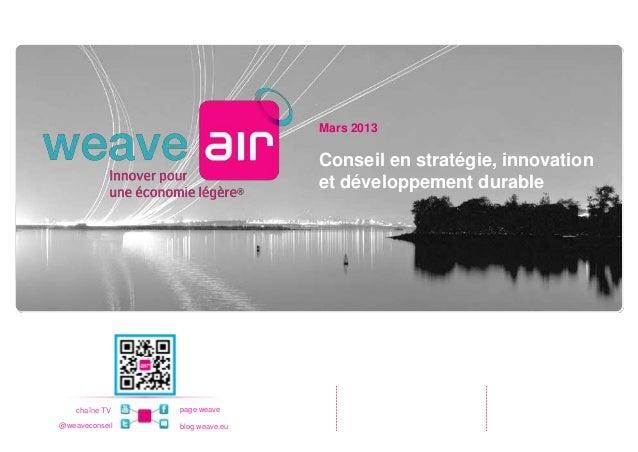 Mars 2013                                Conseil en stratégie, innovation                                et développement ...