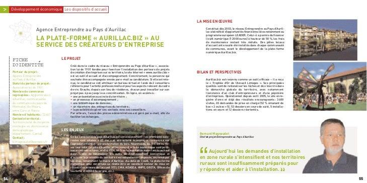 Constitué dès 2003, le réseau Entreprendre au Pays d'Auril-                                                               ...