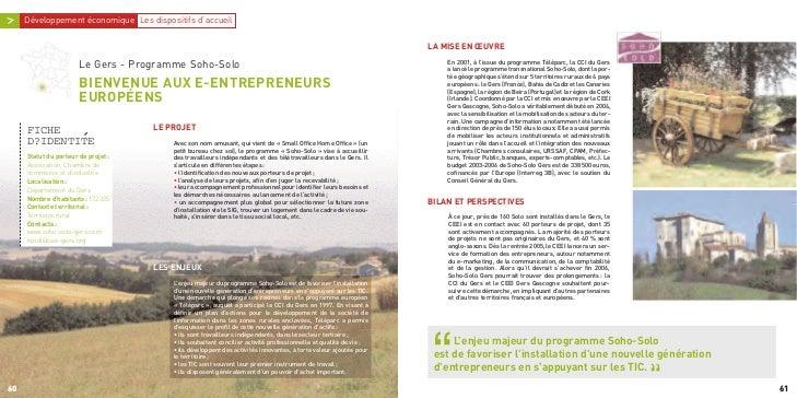 En 2001, à l'issue du programme Téléparc, la CCI du Gers                                                                  ...