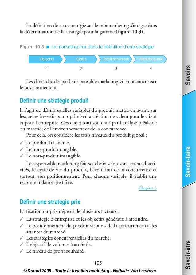 00_VanLeathem Page 195 Dimanche, 11. septembre 2005 11:39 23         La définition de cette stratégie sur le mix-marketing ...