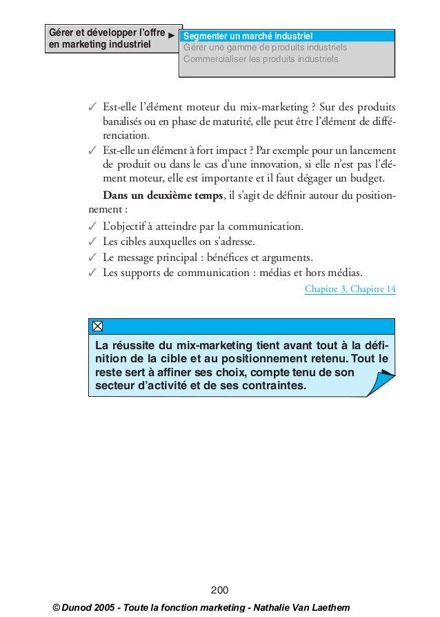 00_VanLeathem Page 200 Dimanche, 11. septembre 2005 11:39 23       Gérer et développer l'offre             Segmenter un ma...