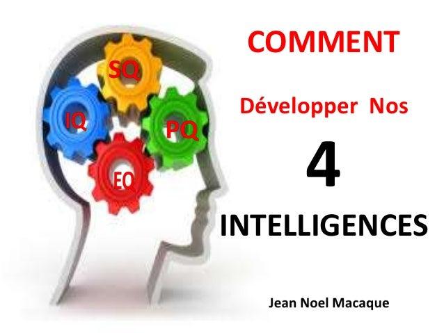 COMMENT Développer Nos 4 INTELLIGENCES