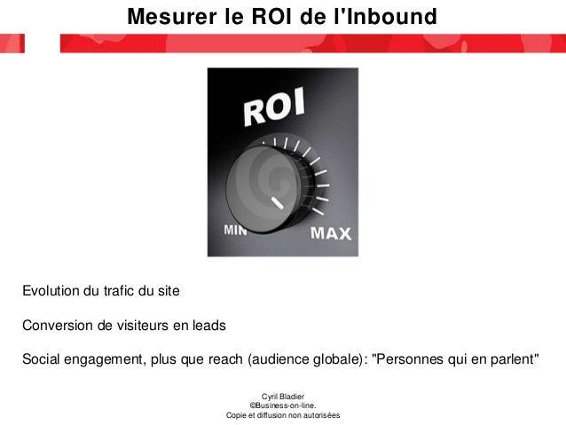 Mesurer le ROI de l'Inbound Cyril Bladier ©Business-on-line. Copie et diffusion non autorisées Evolution du trafic du site...