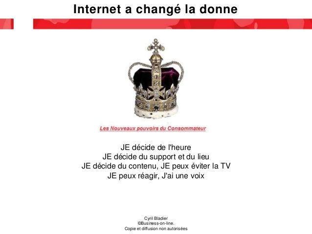Internet a changé la donne Cyril Bladier ©Business-on-line. Copie et diffusion non autorisées JE décide de l'heure JE déci...