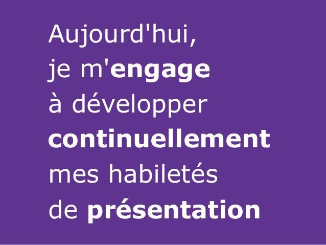 Développez vos habiletés de présentation • JIQ • Denis François Gravel • 2014.11.25