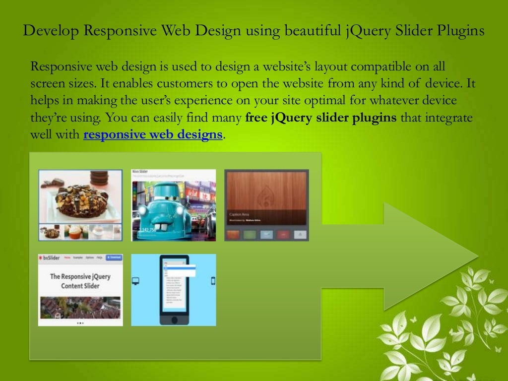 Develop Responsive Web Design using Beautiful jQuery Slider Plugins