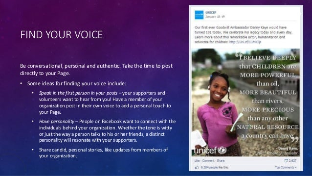 Developing Your Facebook Posting Style Slide 2