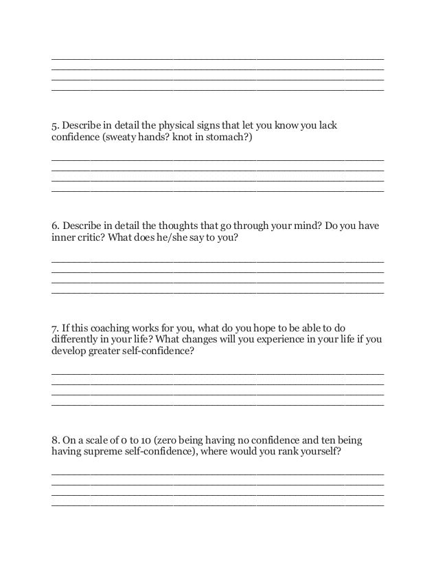 Develop your self confidence   akash's coaching questionnaire Slide 2