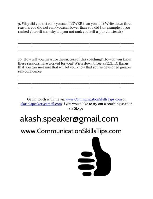 Develop your self confidence   akash's coaching questionnaire Slide 3