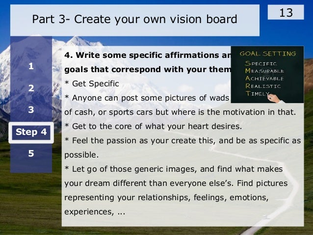 Develop your vision board